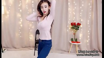 sexy asian teen dances on webcam