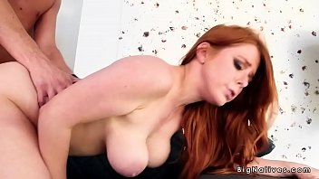 natural big tits redhead pussy pounded