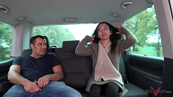 thai massage in driving car turns to wild.
