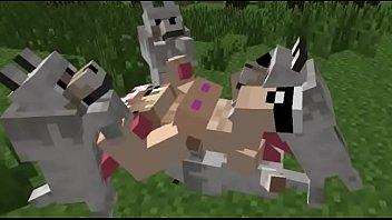 minecraft porno gangbang wolf sex