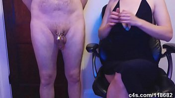 ballbusting jerk off instruction with cum.