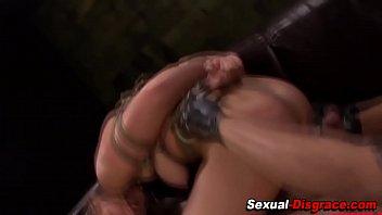 ass fucked slave eats cum