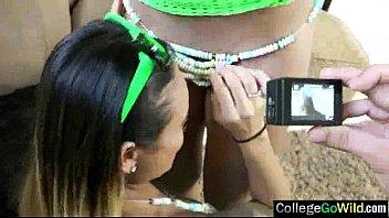 wild hot girls get banged in sex orgy.