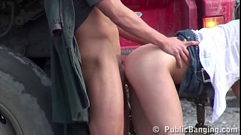 hot blonde girl fucked in the middle of.