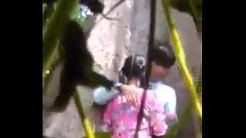myanmar spying young couple outdoor sex.