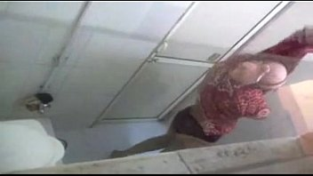 indian hot aunt bath captured through bathroom ventilator.