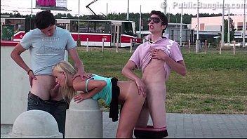 sensacional public group sex teen threesome orgy with.