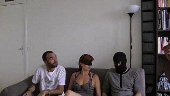 gangbang for lou masked milf
