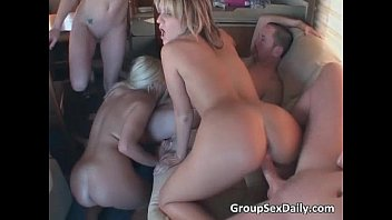 great gang bang party with some