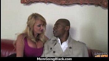 older women gets big black cock in interracial.