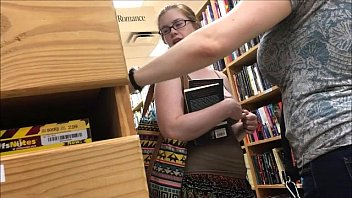 18yr old 36dd braless blonde at the local bookstore