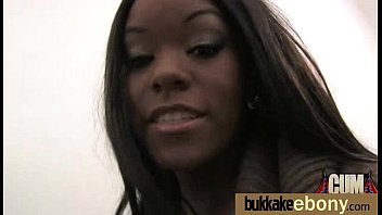 gorgeous ebony lady sucks white dicks and gangbang.