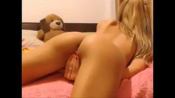 young blonde cam girl masturbation cumshow - watch.