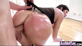 (shay fox) big butt girl get oiled and.