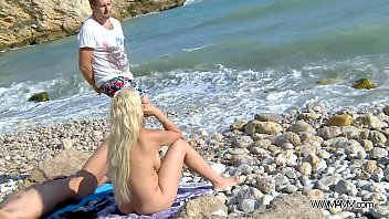 myfirstpublic busty gold-digger fucked hard on the beach.
