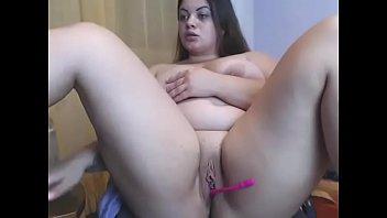 hot chubby lived pussy masturbation show