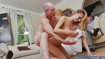 pretty blonde molly mae loves fucking with old men