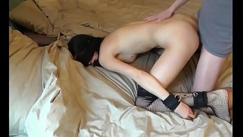 blindfolded and tied ready to his.