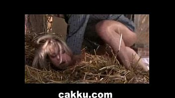 blonde sexy girl doing hardcore sex with farmer.