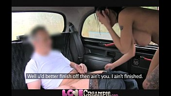 love creampie british slut gives fake taxi driver.