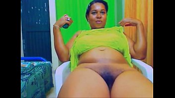 webcam toy show with a hot black bbw.
