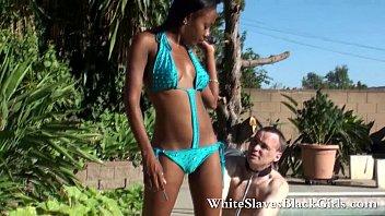 black femdom controls white slave