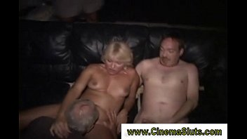 mature blonde slut gets down balls deep on.