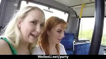 slutty euro exchange student starts an orgy in.
