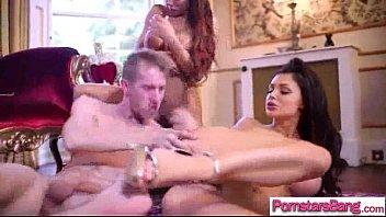 wild pornstar (aletta madison) on huge cock in.