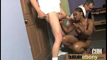 ebony girl gang banged and covered in cum 8