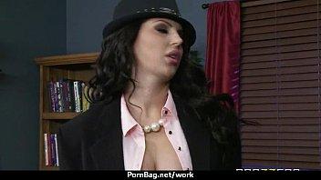 big-tit latina boss fucks employee'_s hard-dick in office 23