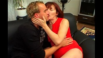 riding redhead hairy milf by young.