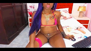 horny ebony teen strips naked -.