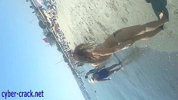 turkish beach  young girl voyeur.