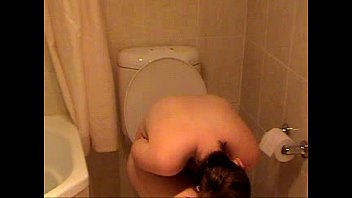 shy wife caught naked on the toilet- more.