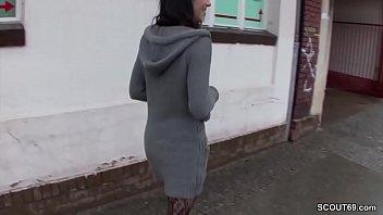stranger seduce german teen from street to fuck.