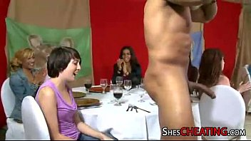 male-stripper with huge-dick gets bj at.