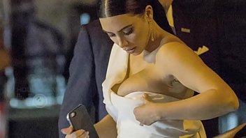 kim kardashian boobs burst out!