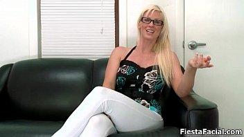 cute blonde amateur girl gets ready