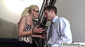 sex tape with real sluty big tits office.