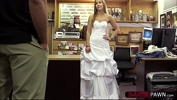 shy blonde bride wants to sell her wedding.