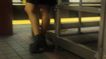 indian legs waiting for train
