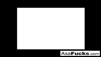asa akira&#039_s hot lesbian threesome