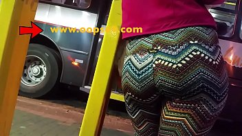 touch her fat ass inside bus