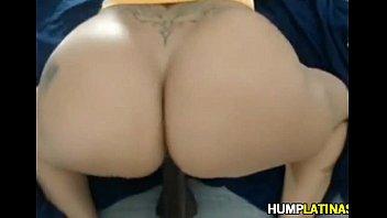 huge latin booty riding dildo