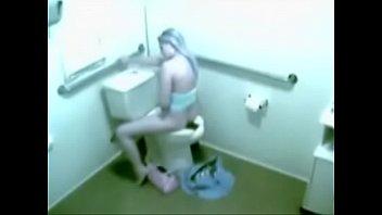 security cam caught hottie toilet masturbating