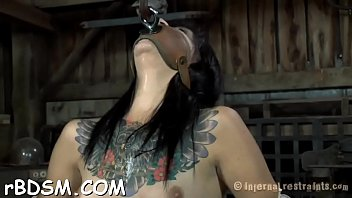gagged gal is being punished for being such.
