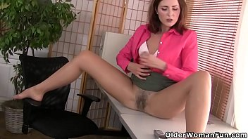 american milf helena doesn'_t wear panties at the office
