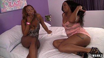 wankz - nubile ebony lesbian babe has her.