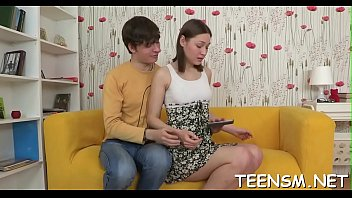 spoiled teen gets her mouth and snatch stuffed.